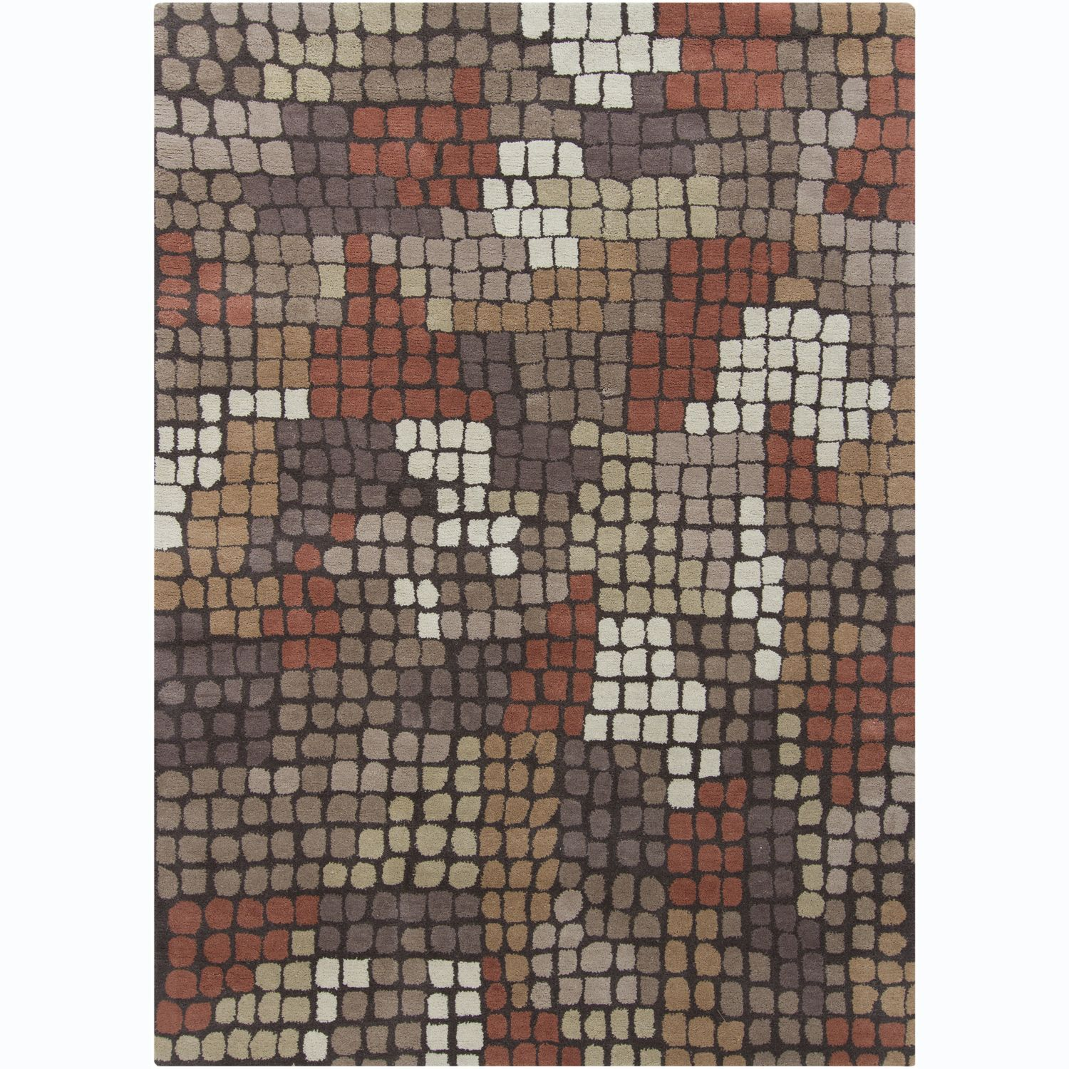 Artist's Loom Hand-tufted Contemporary Geometric Rug