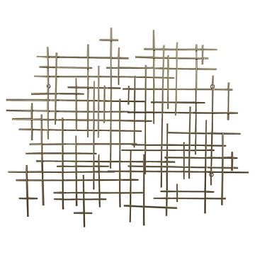 "Gold Metal Wall Decor mid-century metal wall décor gold 36x30"" - threshold™ 