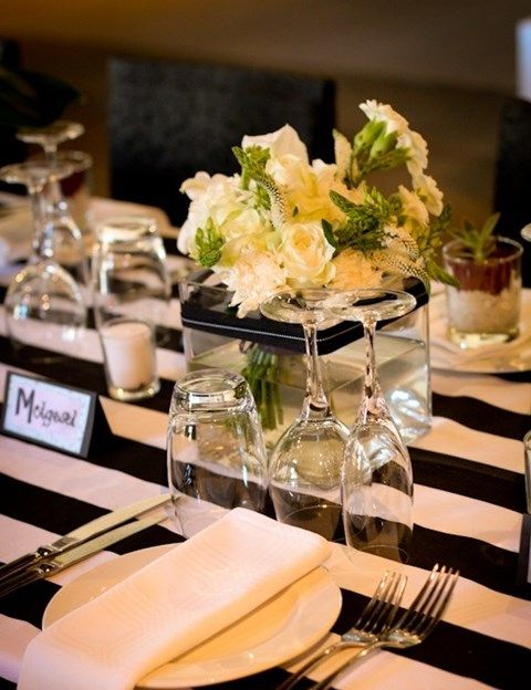 58 Elegant Black And White Wedding Table Settings Wedding Table Settings Black White Wedding Theme Wedding Table,Good Plants For Office Spaces
