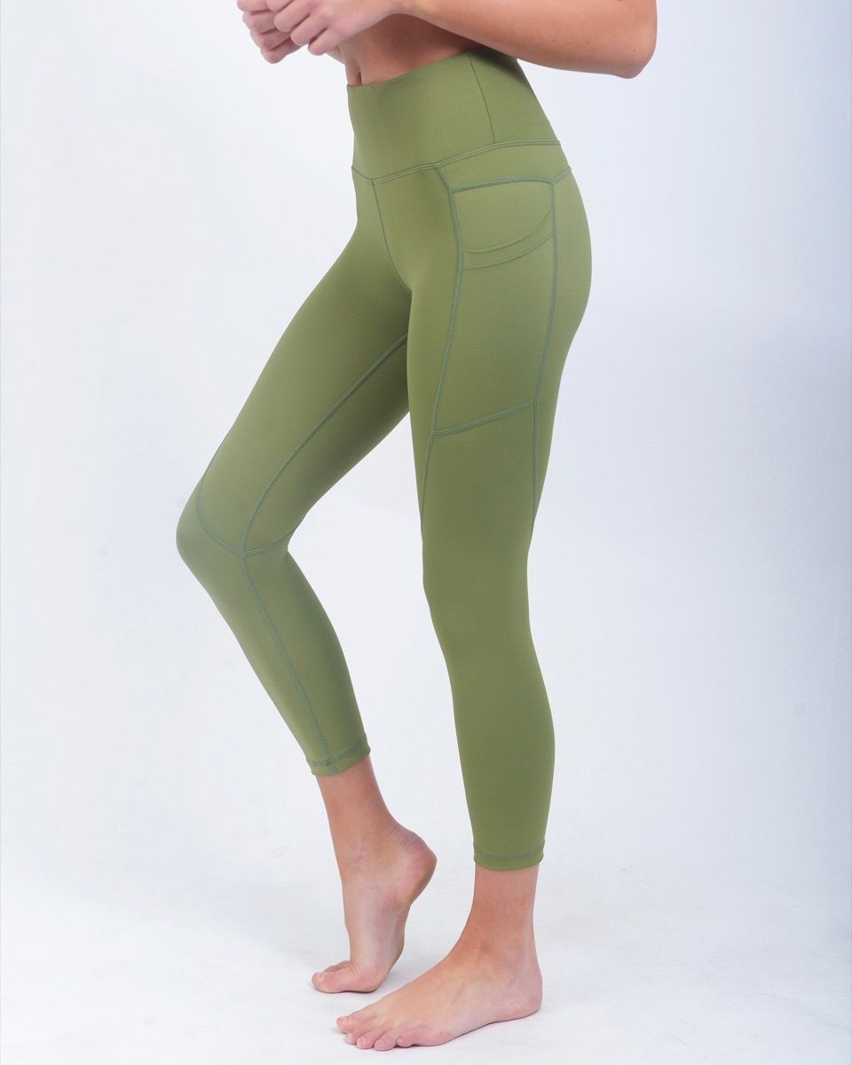 30a95d1689b Olive Light n  Tight Pocket Capri s