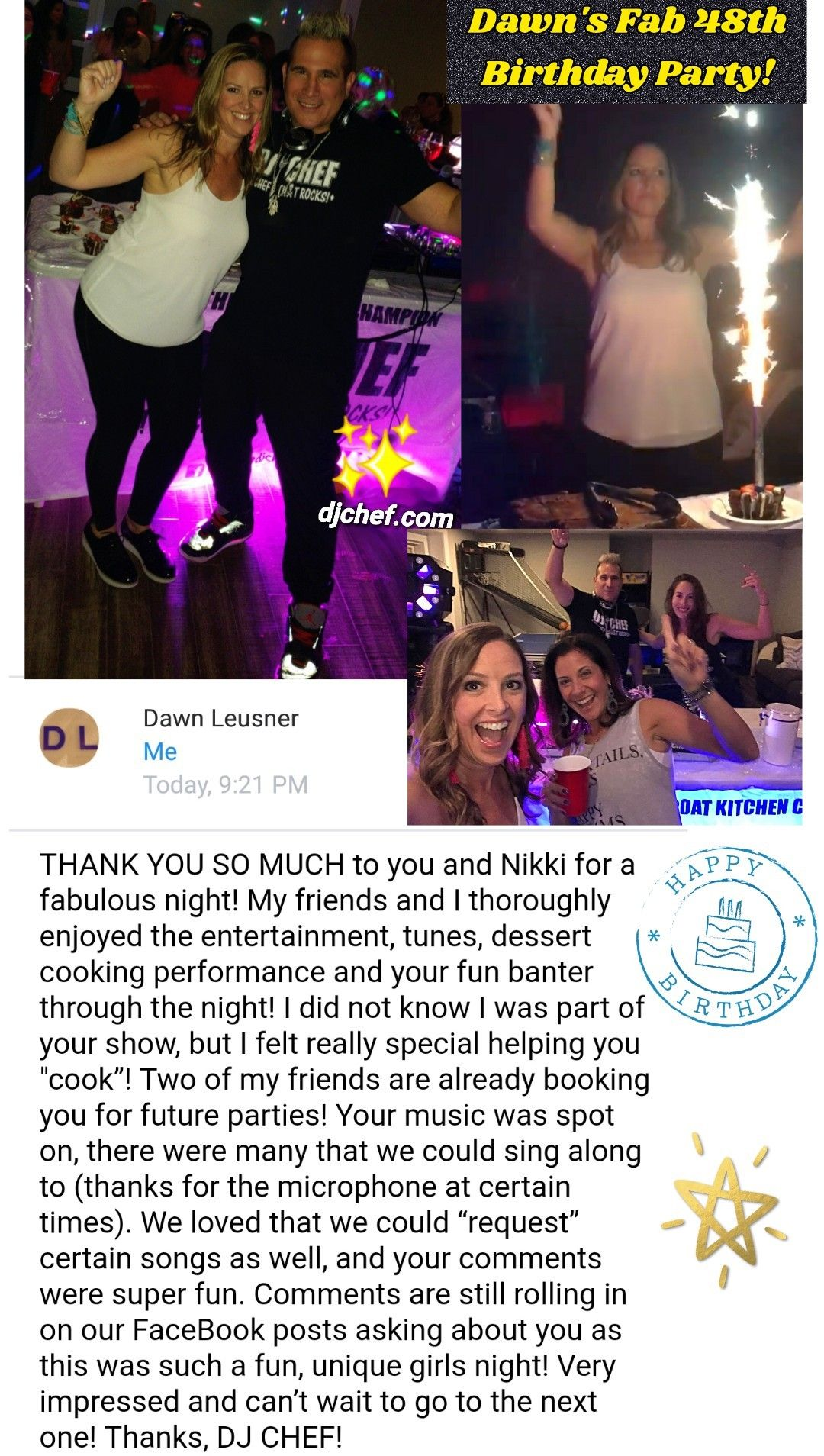 FAB 50TH BIRTHDAY IDEAS LONG ISLAND NEW JERSEY DJ CHEF HAMPTONS WESTCHESTER 40TH PARTY COOKING FOOD NETWORK TOP EVENTS ENTERTAINMENT