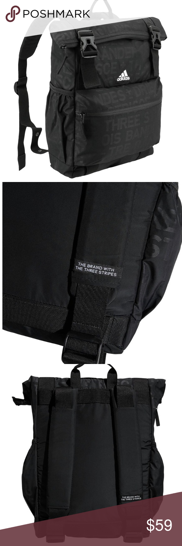 Adidas yoga backpack Adidas YOLA backpack. A yoga mat-compatible backpack  with dual water 2398f211a2