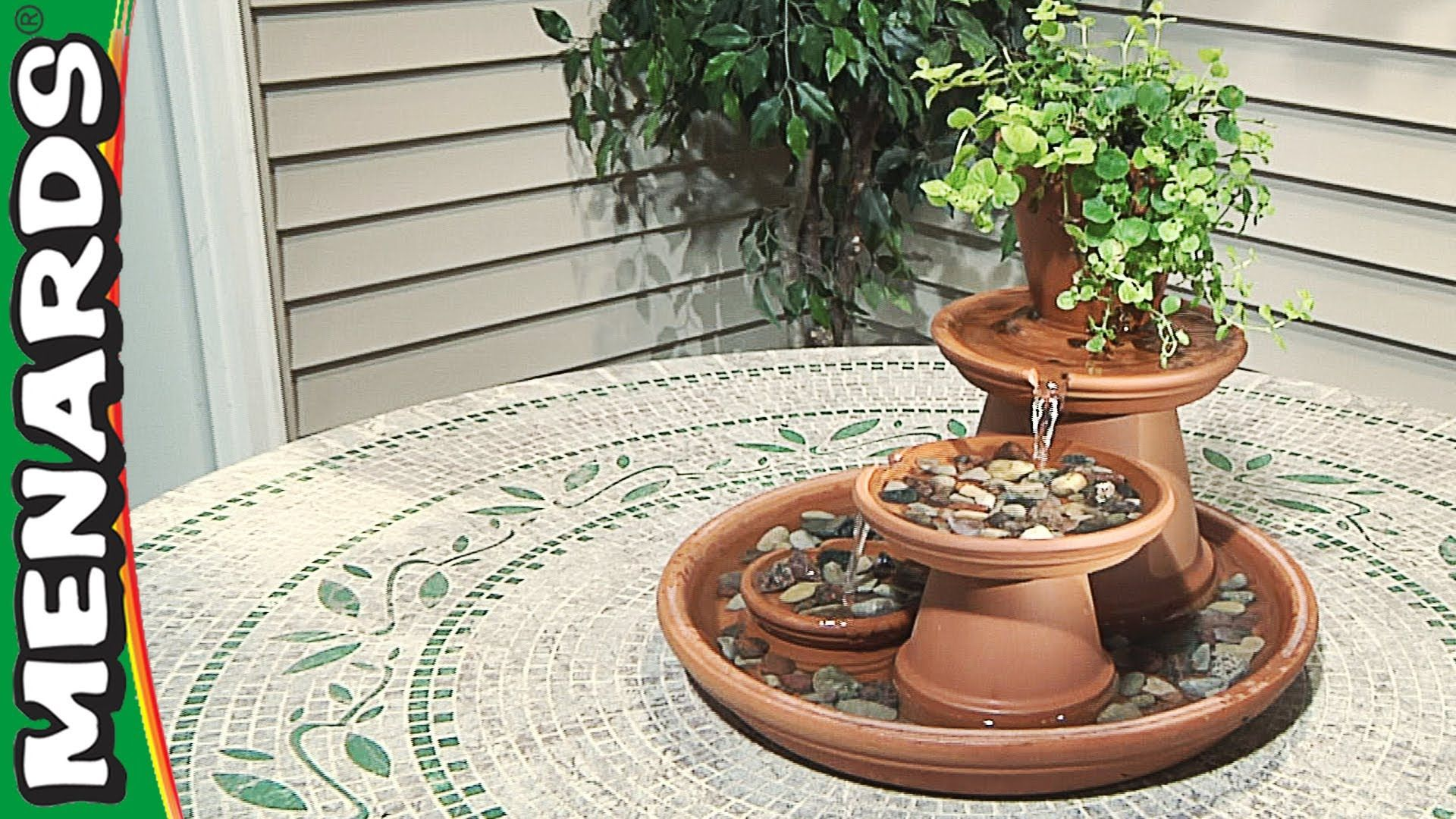 Terra Cotta Fountain - How To Build - Menards | Bee Keeping ...