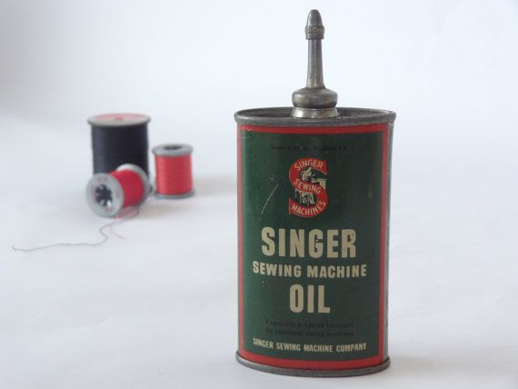 Antique oil can Singer sewing machine vintage by ...