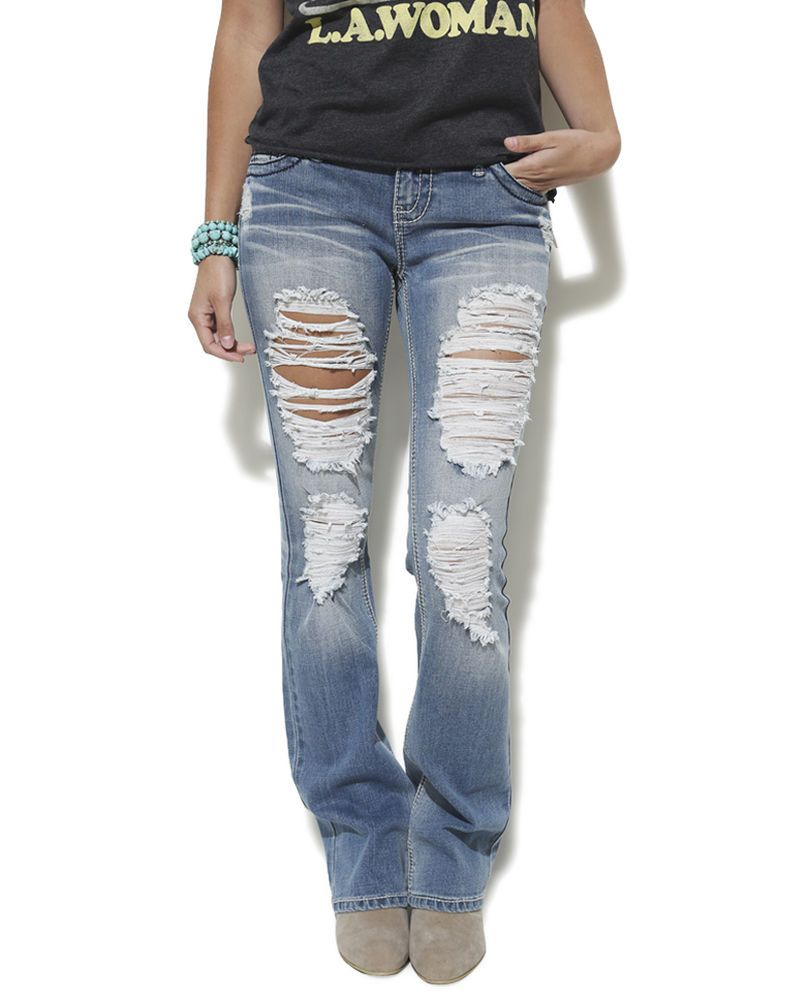 Wet seal blue asphalt size 1 juniors destroyed jeans wash low rise ...
