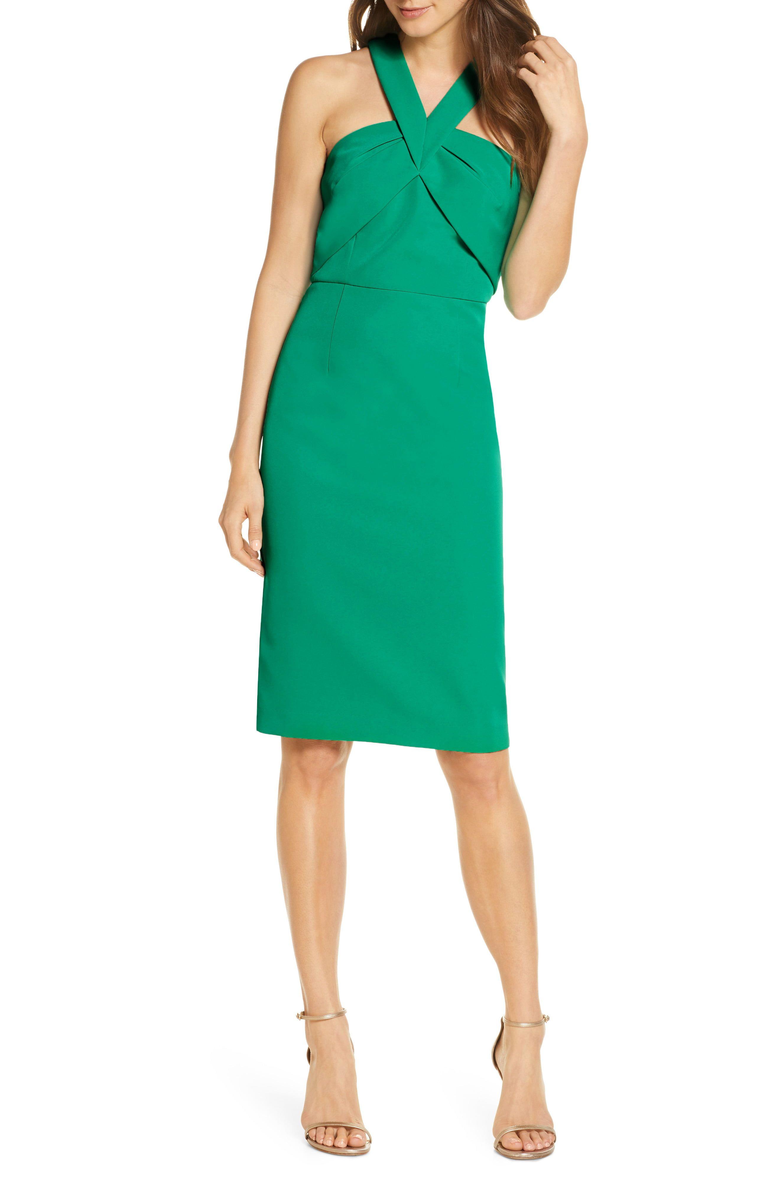 Vince Camuto Halter Neck Sleeveless Dress Nordstrom Long Sleeve Cocktail Dress Nordstrom Dresses Dresses [ 4048 x 2640 Pixel ]