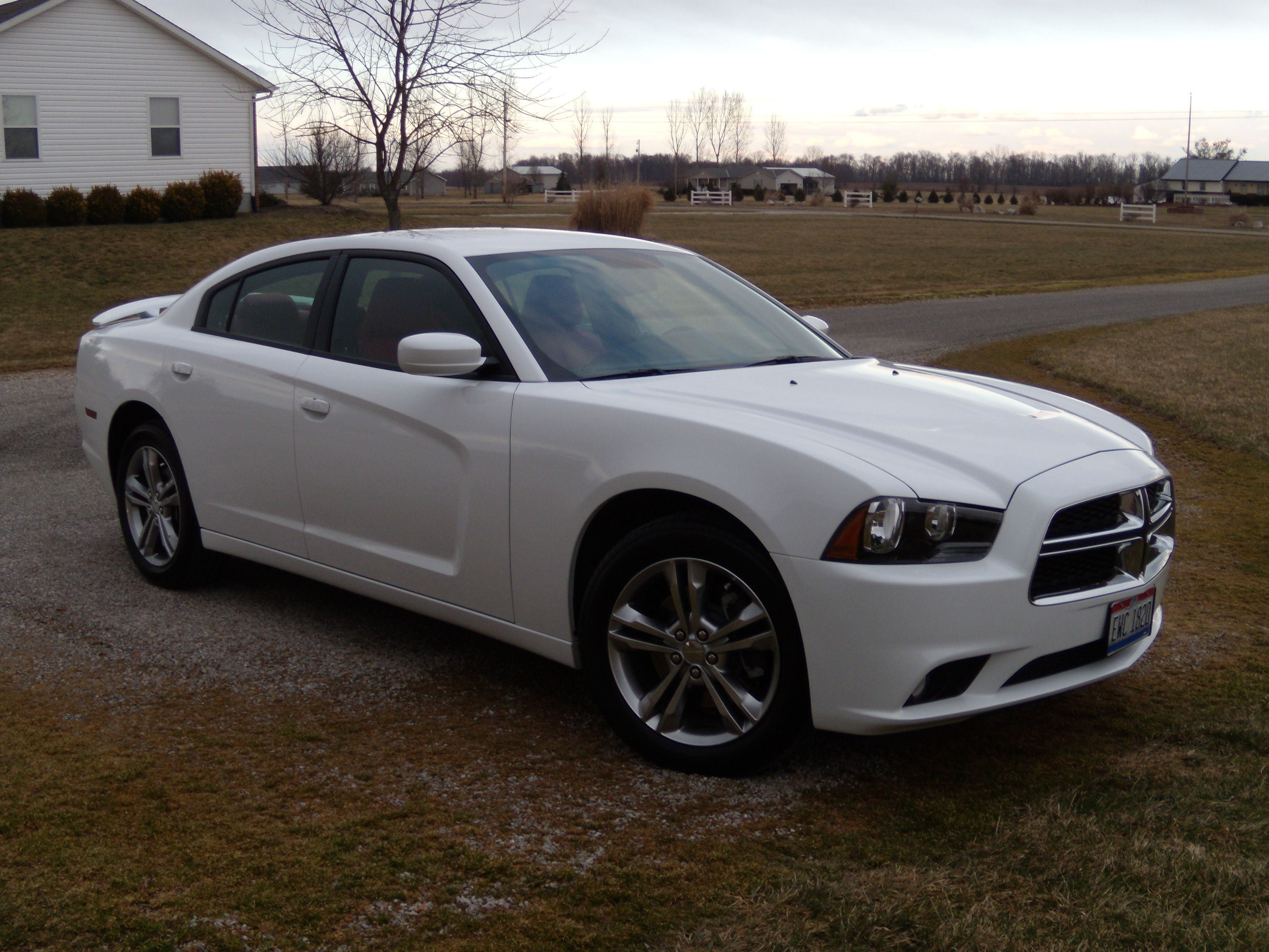2013 Dodge Charger   White With Red Leather Interior. Love!
