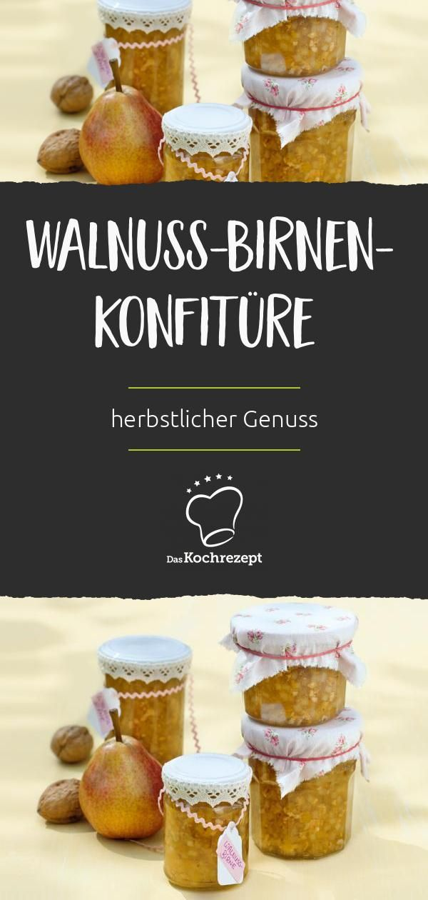 Walnuss-Birnen-Konfitüre