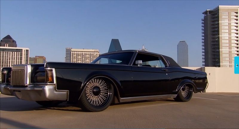 1970 lincoln revamped by gas monkey garage autos for Garage auto fab ennery