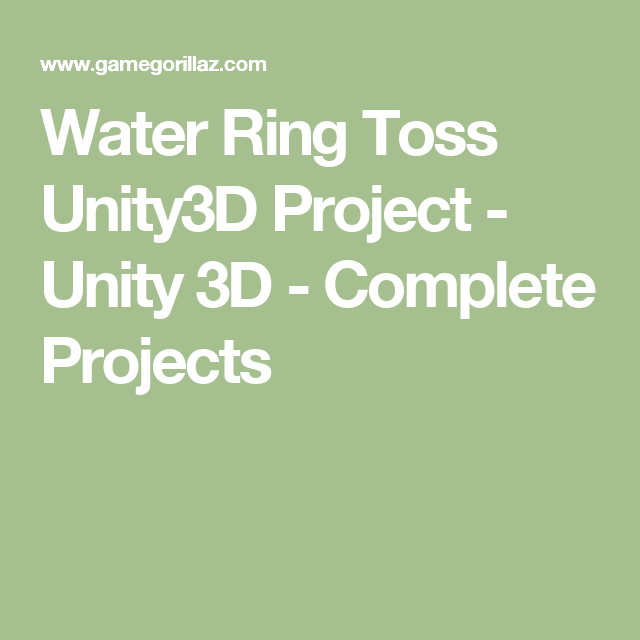 Water Ring Toss Unity3D Project - Unity 3D - Complete