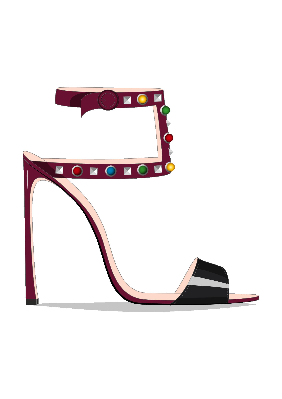 Guillaume Bergen Spring Summer 17 Sketch Mode Illustration Fashiondraw Fashionillustration Desig Chic Womens Shoes Shoe Design Sketches Jeweled Heels