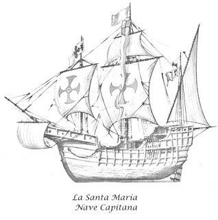 Descubrimiento De America Para Colorear Dia De La Hispanidad Dia De La Cultura Las Carabelas De Colon
