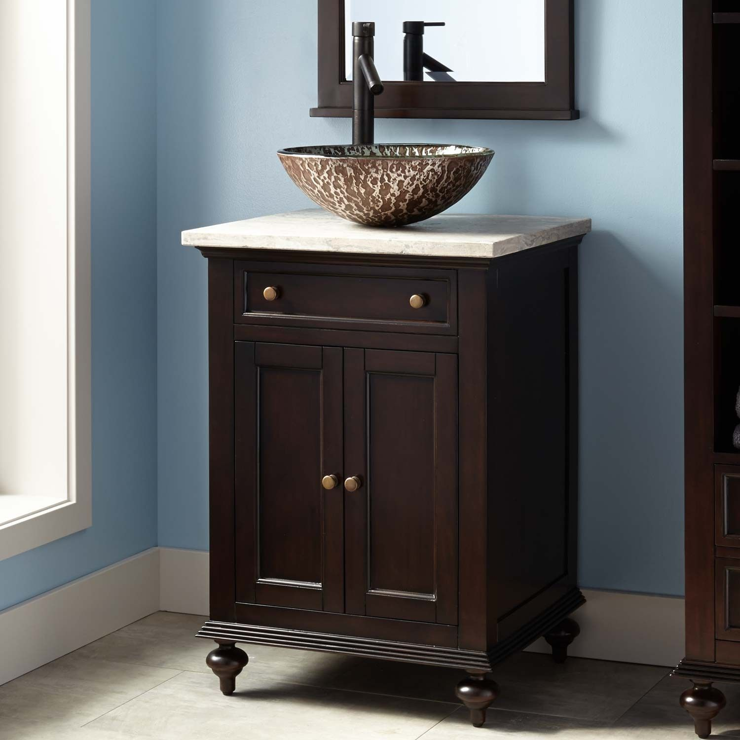 24 Keller Mahogany Vessel Sink Vanity Dark Espresso In 2019 For