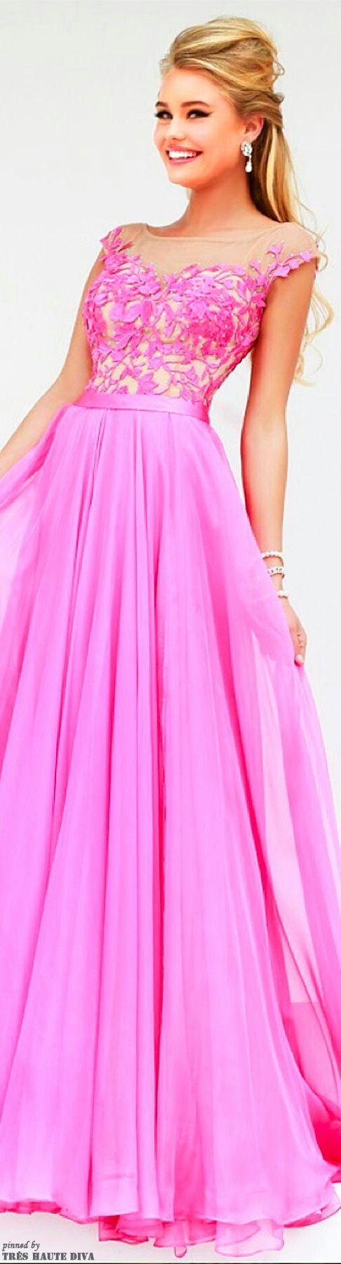 Pin de NITA ~ en Fashion~Pretty in Pink | Pinterest | Vestido ...