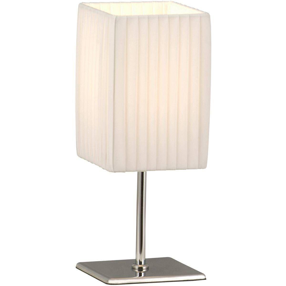Lampe Bailey Métal Et Blanche À Contemporaine En Poser Argentée R3L4A5j