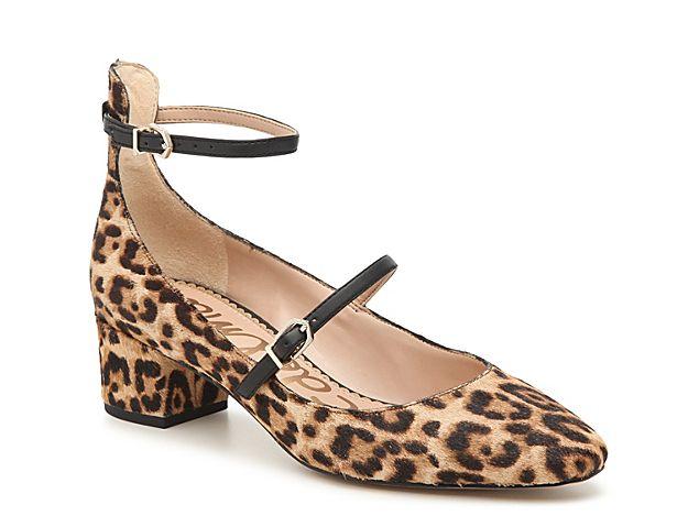 Women Lulie Pump BlackBrownTan Leopard | Low heel dress