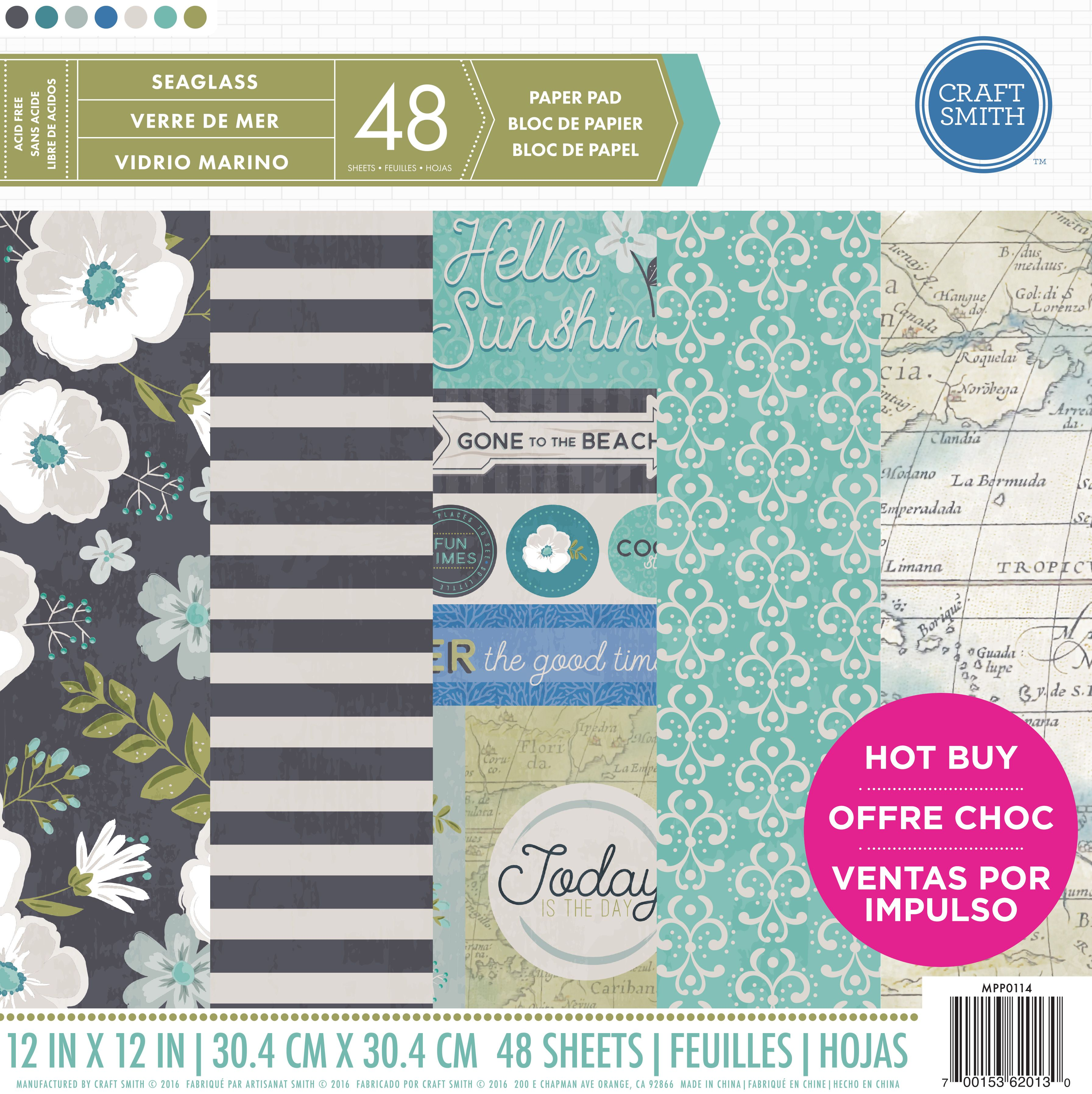 "Love this coastal feel with our ""Seaglass"" paper pad available @michaelsstores now!"