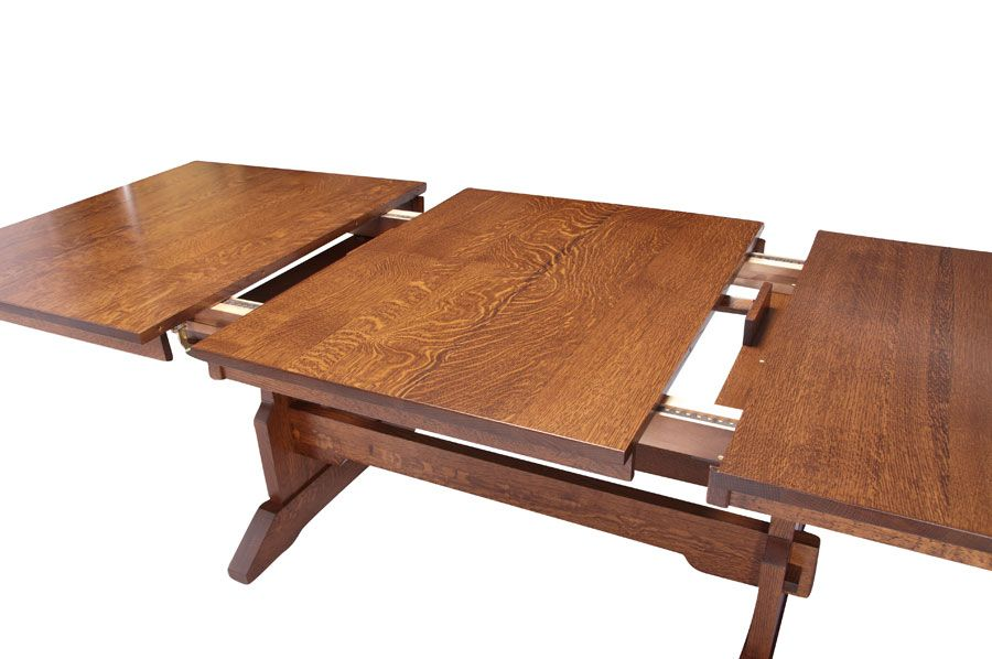 Franklin trestle table with butterfly leaf from simply
