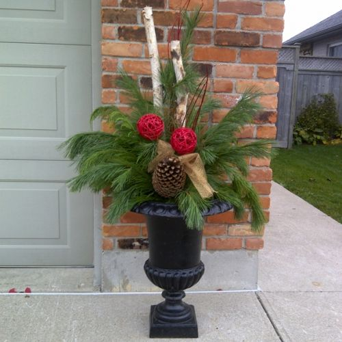 Christmas Planters Urn Inserts Classic