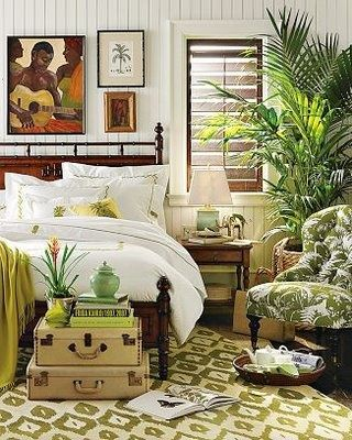Decorating With The Brown Lime Green Color Combination British Colonial Decor British Colonial Bedroom Tropical Home Decor