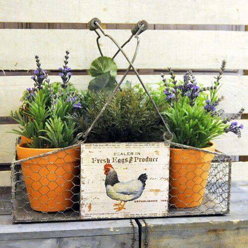 Brambly Cottage Eubank 7 Piece Metal Cachepot Set Plastic Plant Pots Self Watering Plants Planters