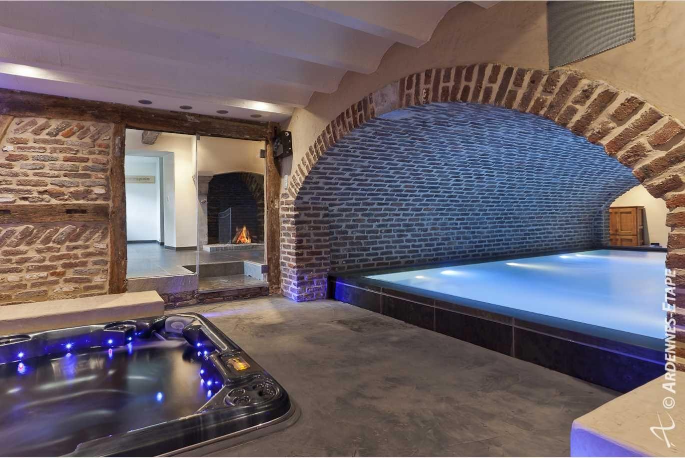 Luxe villa Spa 8 pers. in de Ardennen Zwembad Wellness