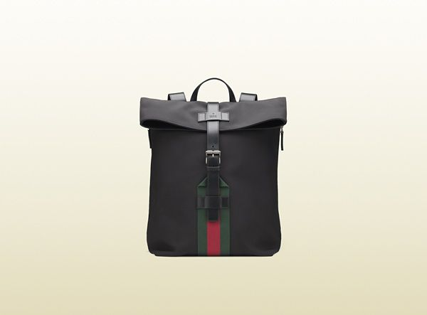 d96aa1152d4 Gucci - black techno canvas backpack 337075KWT6N1060