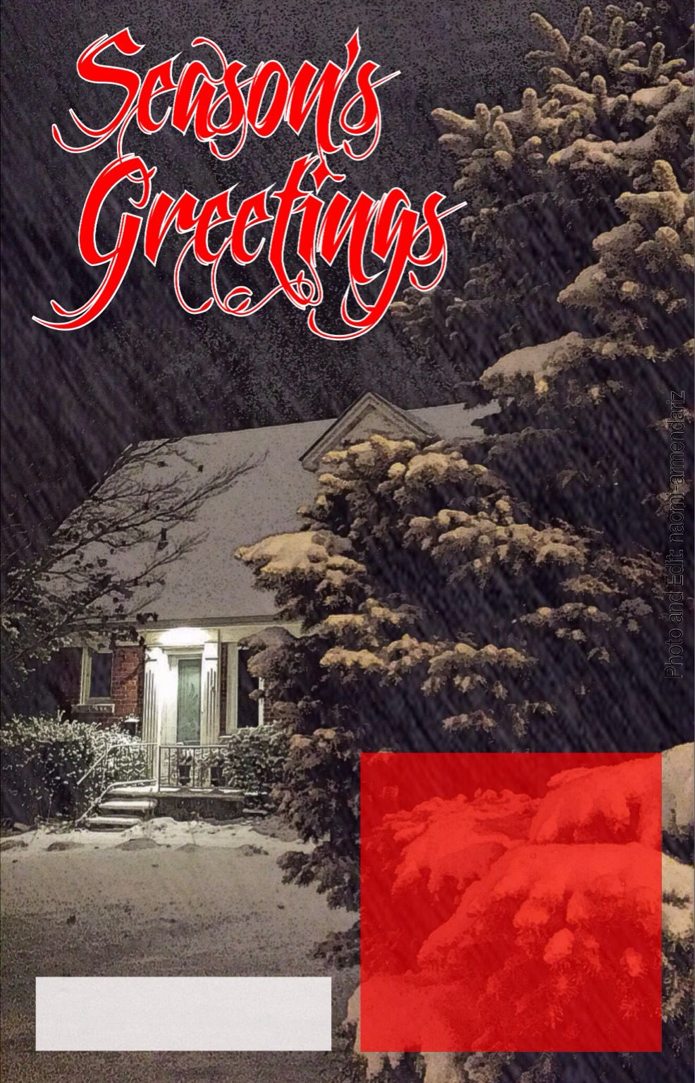 Seasons Greetings Holiday Card Template Using A Photo Editing App