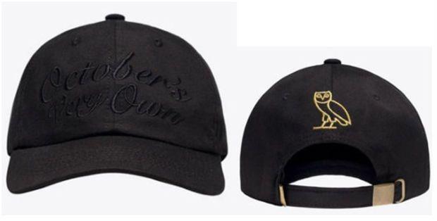 bd2f5c5824ad23 Drake OVO Octobers Very Own Black Hat Sport Cap Strap Back Cap Men Women Gold  Owl Denim Trucker Hat