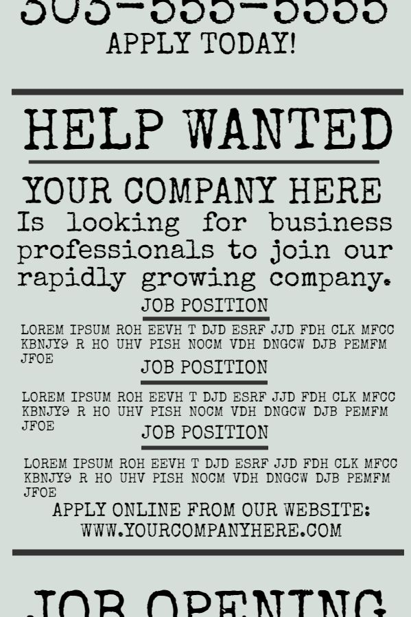 company job offer flyer design template click to customize