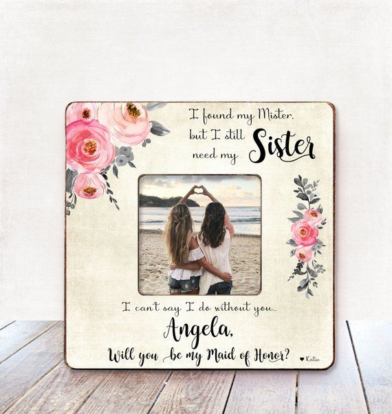 Maid Of Honor Proposal Sister Maid Of Honor Proposal Gift Sister