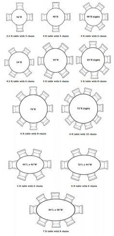 Awesome Round Table Charts: Interior Designer Of Asheville North Carolina Kathryn  Greeley Uses Table Charts To Help With Appropriate Seating Sizes And  Capacities