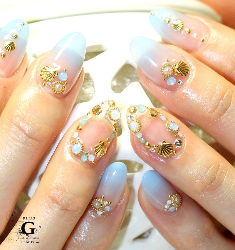 Twincle marine bijoux nail #nailart
