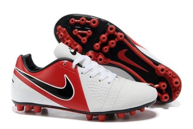 Qualità Alto Nike Football Boots C Luo 9 Bianco Rosso Nero