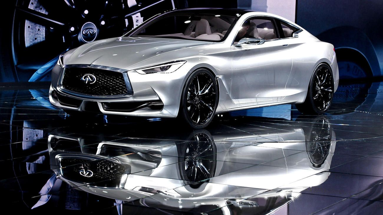 The infiniti concept debuted at the 2015 north american international auto show in detroit the swoopy model serves as a veiled look at an upcoming 2 2