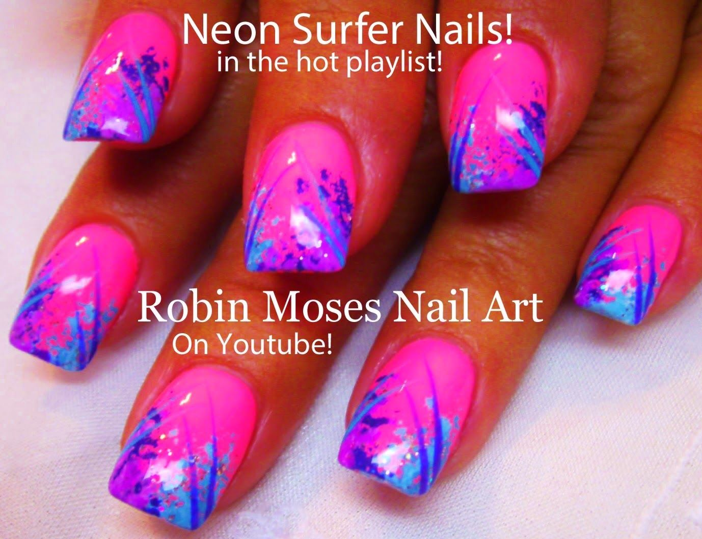 Here Are My DIY Neon Pink Sponge Nail Art Designs And Tutorials For NAILS  At The Next Level! From DIY Easy Nail Art Designs For Beginners, To.