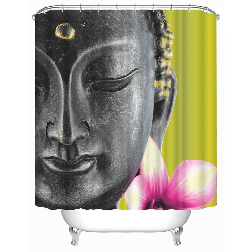 Bathroom Shower Curtain 3d Buddha Shower Curtain For Bathroom