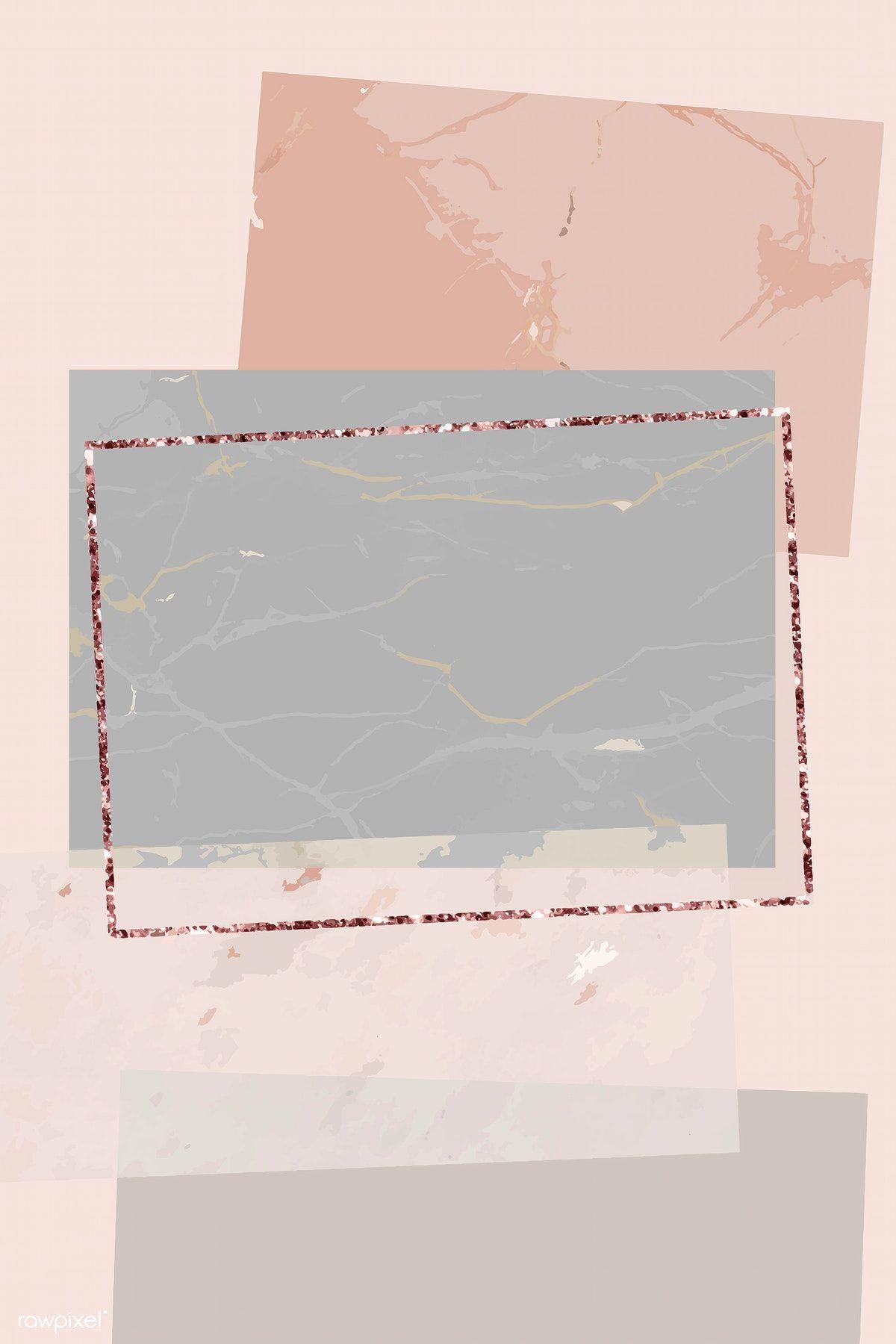 Download premium vector of Shimmering rectangle frame design vector 894133