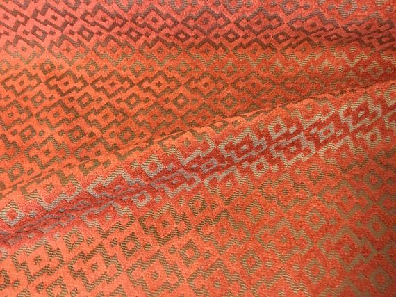 54 Wide Shimmery Rust Color Rusty Red Brown Chenille Velvet