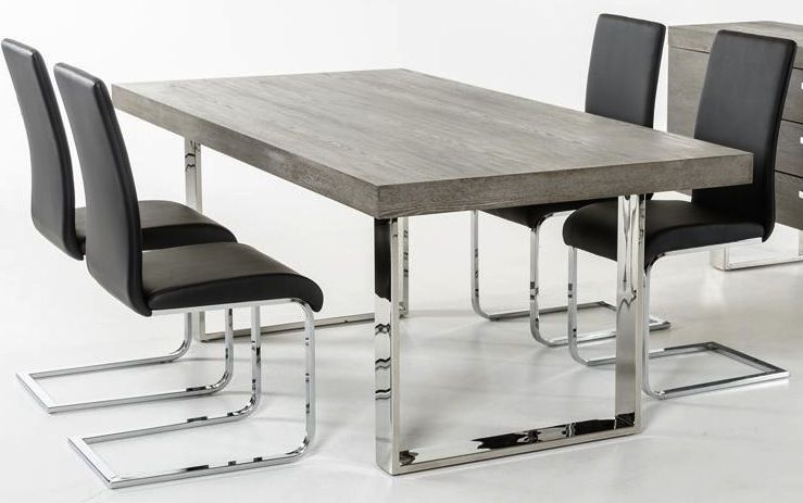 Herald Gray Dining Table Grey Dining Tables Metal Dining Table