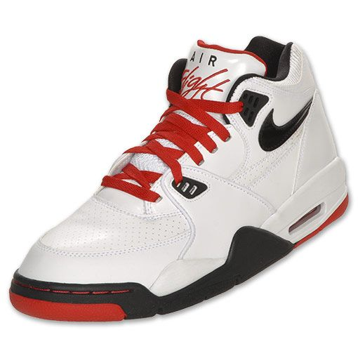 Nike Air Flight 89 Men\u0027s Basketball Shoes | FinishLine.com | White/Sport Red