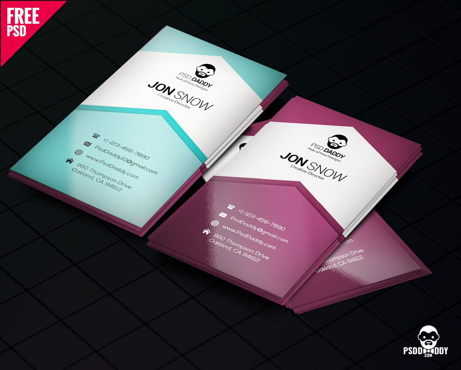 Download Creative Business Card Psd Free Psddaddy Regarding Visi Business Cards Creative Templates Business Card Psd Free Photography Business Cards Template