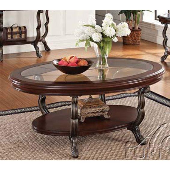 Best Oval Glass Top Coffee Table Bravo Glass Wood Coffee 640 x 480