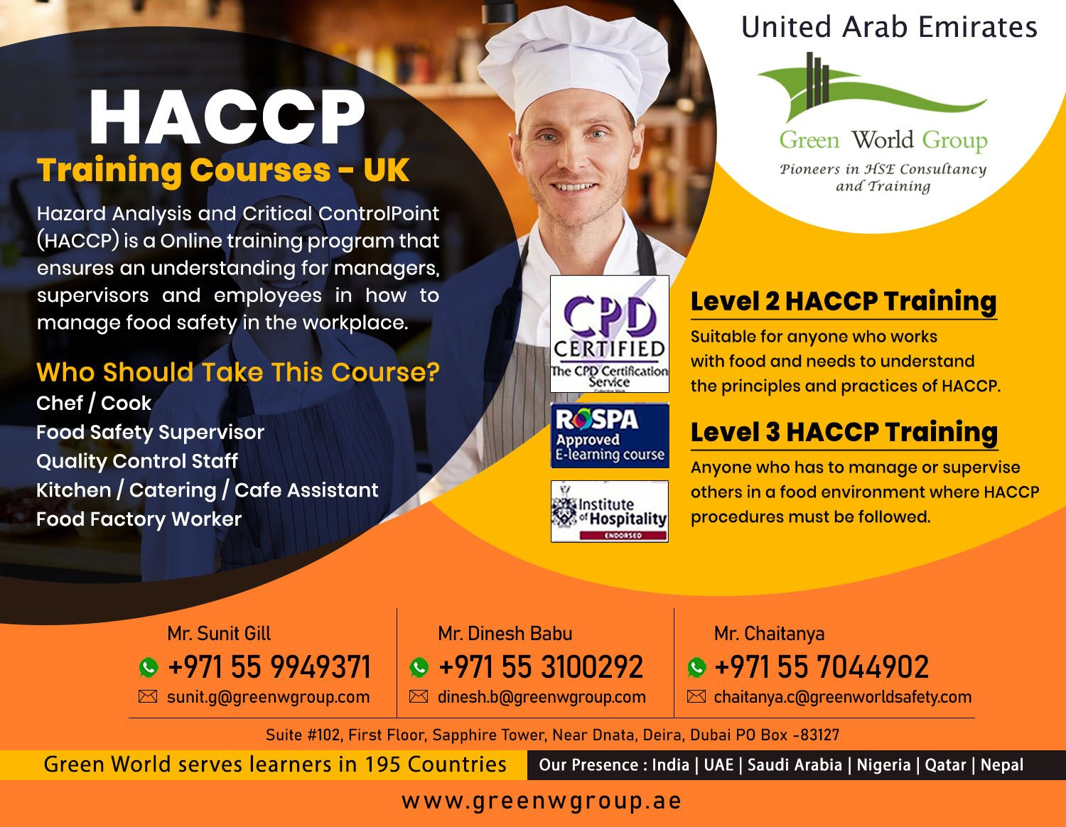 Join Food Safety Course in Dubai in 2020 Safety courses