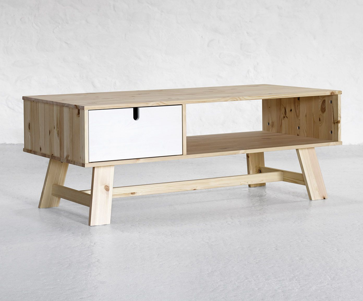 Scandinavian Modern Tv Unit Perfect Match Of Solid Wood And Modern White Available Exclusive In The Uk At Http Funique Co Uk Sofa Bett