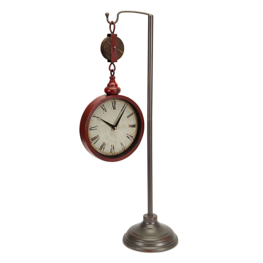 28 Quot Pulley Clock On Stand Home Decor Clock Wall Decor