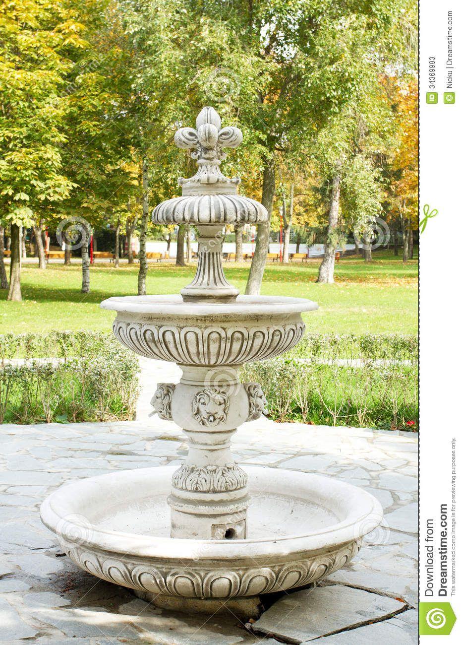 Fuente de agua del vintage … | Pinteres…
