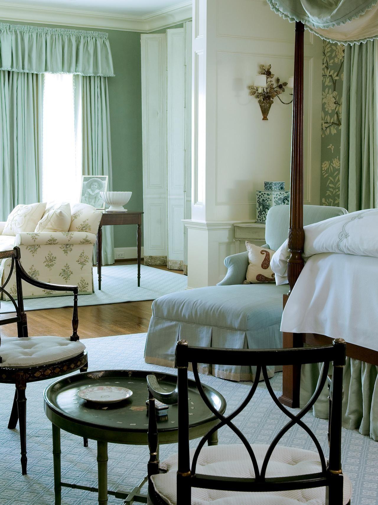 Soft mint hues define this elegant traditional master