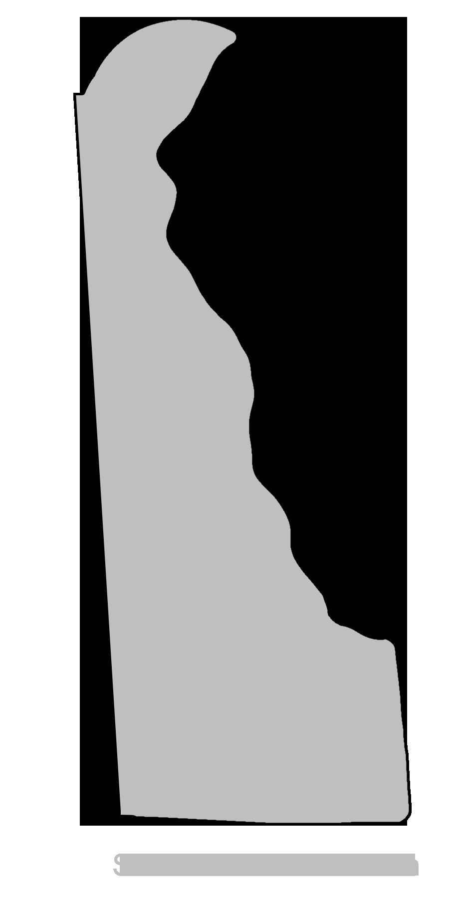 Delaware - Map Outline, Printable State, Shape, Stencil, Pattern ...
