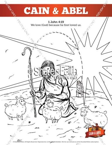 Cain and Abel Bible Coloring Pages | Adam & Eve | Sunday ...